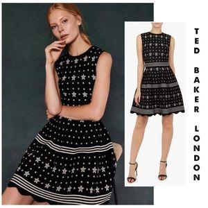 "Ted Baker ""Lallyo"" Star Print Dress 1 (US 4)"